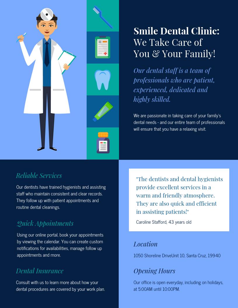 Dental Medical Pamphlet Template
