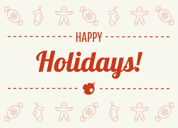 Happy Holidays Card Template - Venngage