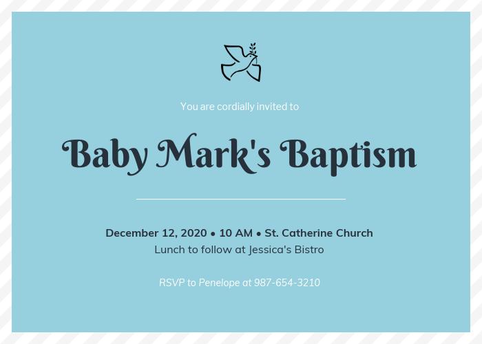 Simple Baptism Invitation Template