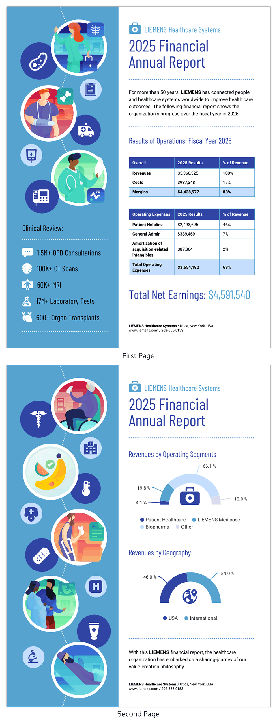 Healthcare Financial Annual Report Template