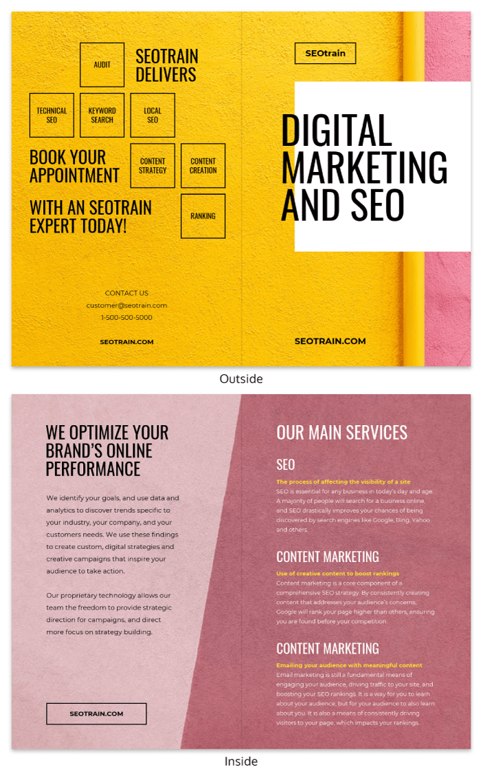 Vibrant Consulting Business Bi Fold Brochure Template