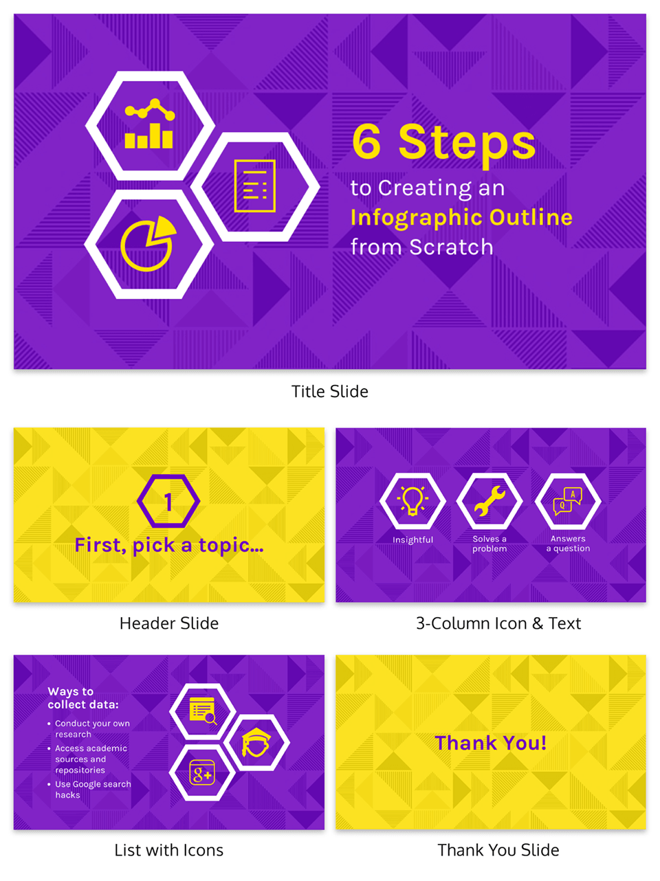 Create an Infographic Outline Creative Presentation Template