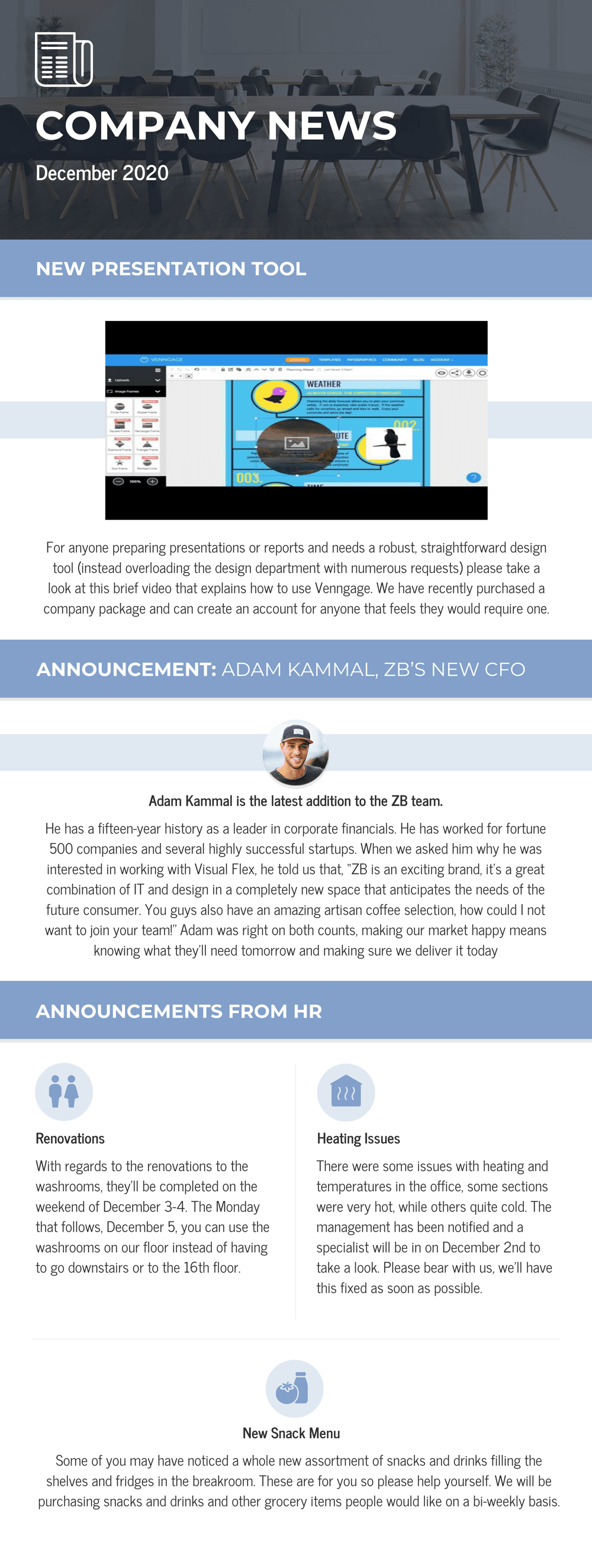 Monthly Business Newsletter Template