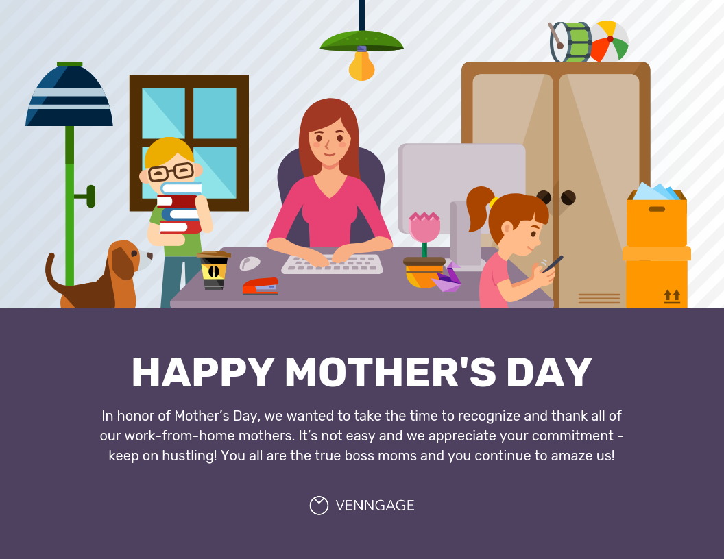 Employee Appreciation Mother's Day Card Template