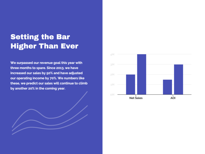 Blue Bar Chart Template