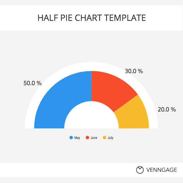 Colorful Half Pie Chart Template Template Venngage