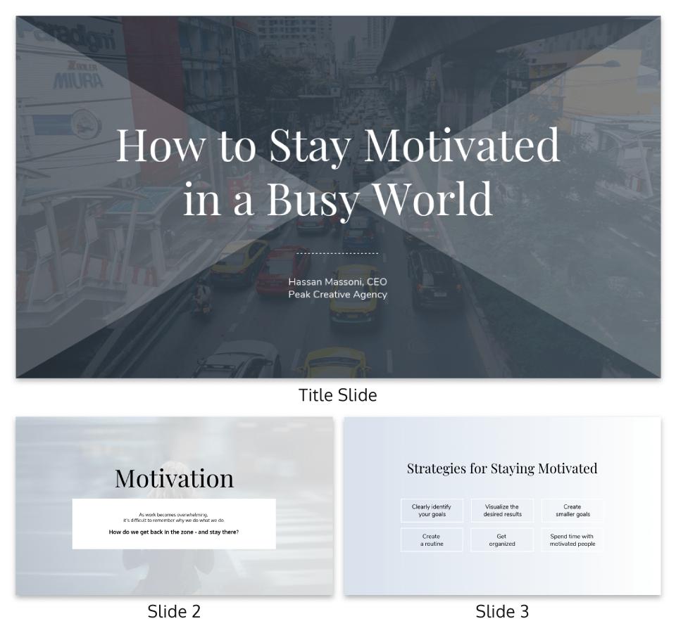 Monochrome Modern Keynote Presentation Template