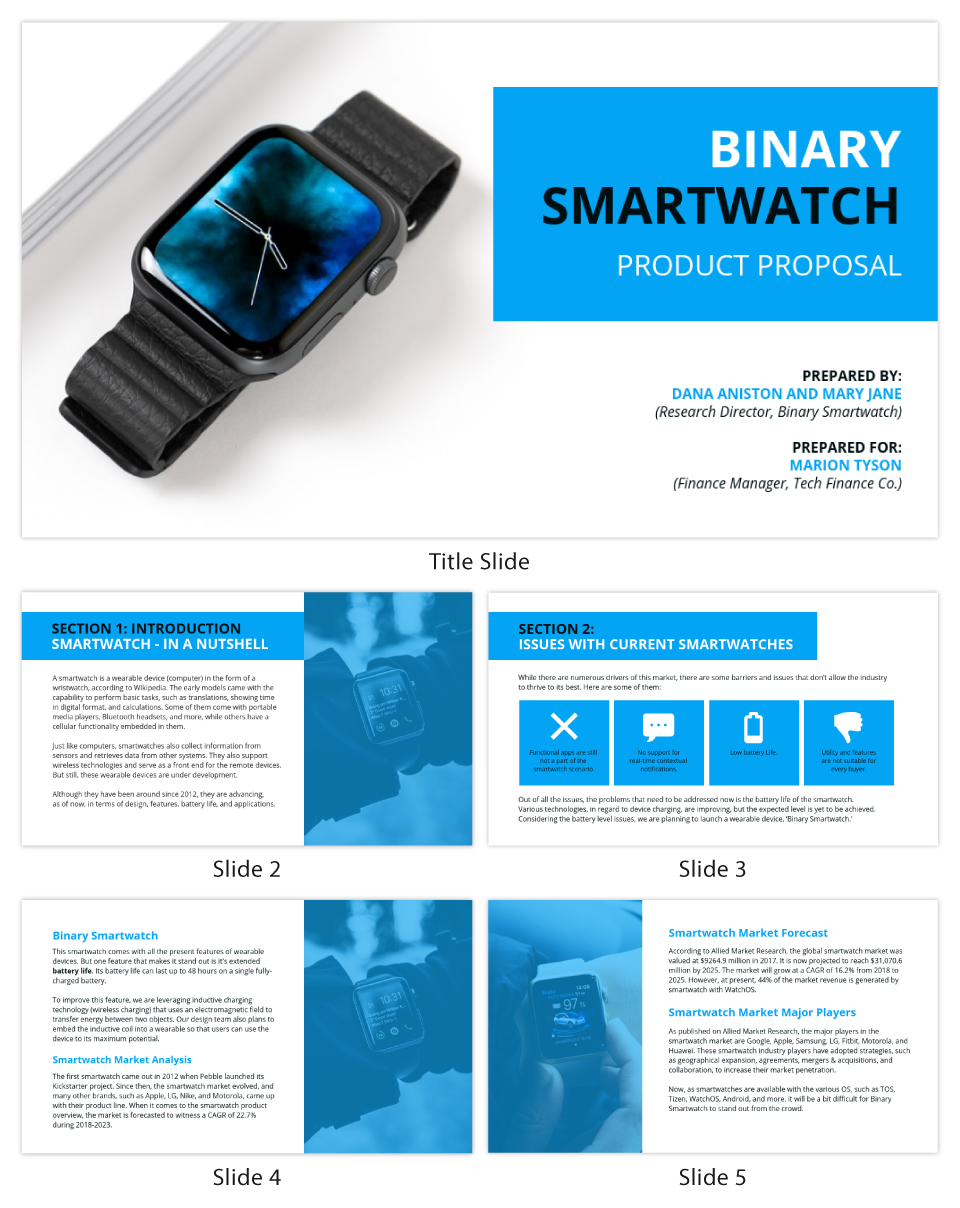 Blue Product Presentation Template