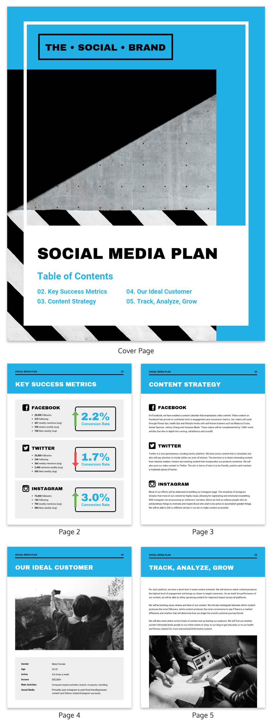 social media rfp template - social media marketing proposal template venngage