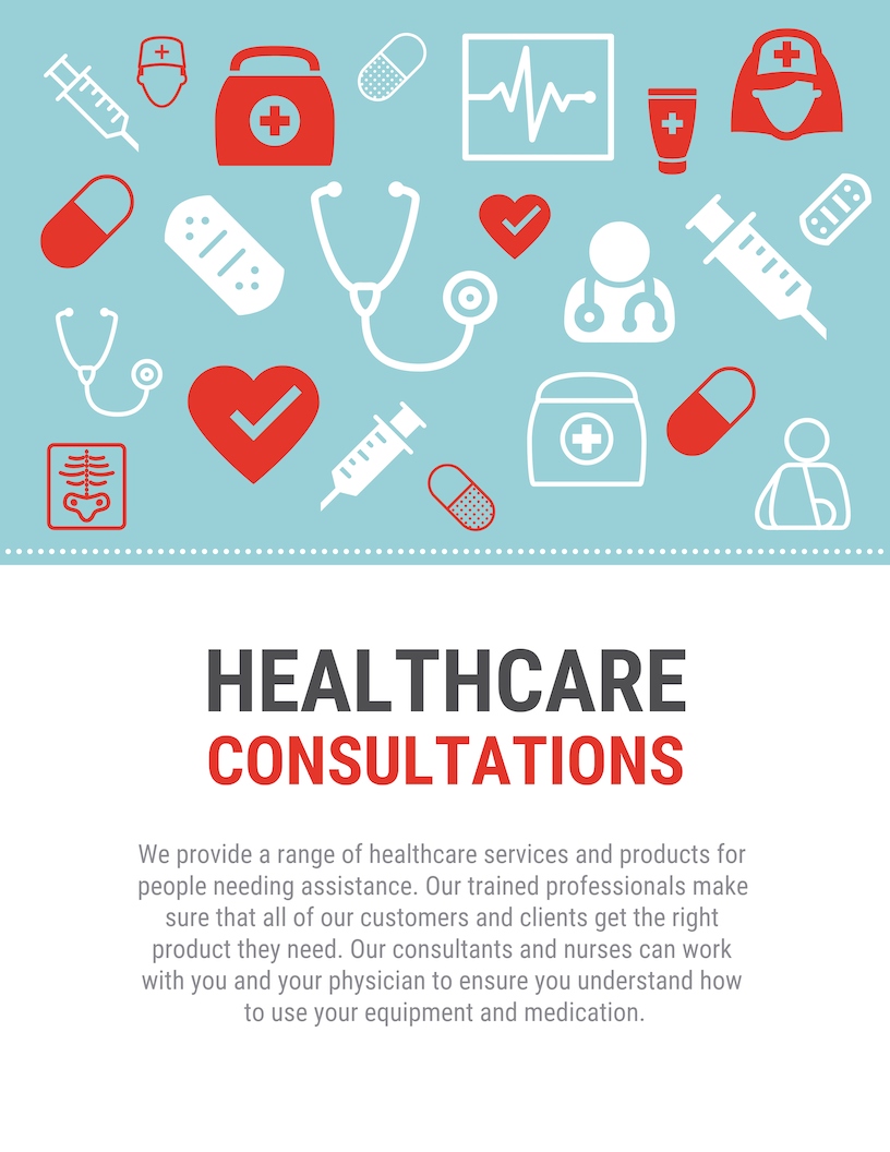 Blue White Healthcare Poster Template