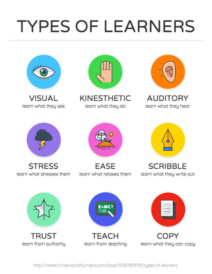 Types of Learners Infographic Template