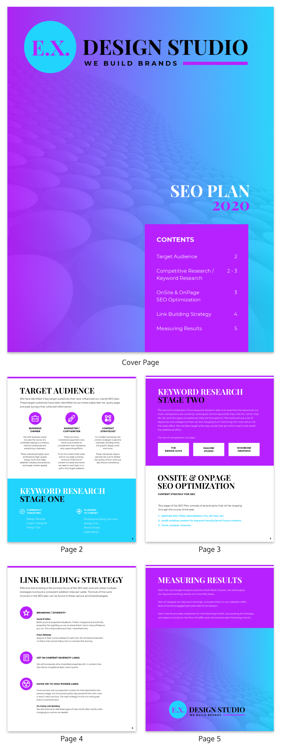 Gradient SEO Marketing Plan Template