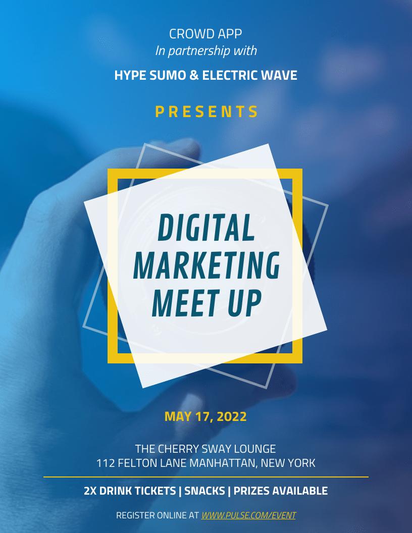 Digital Marketing Meet Up Event Poster Template