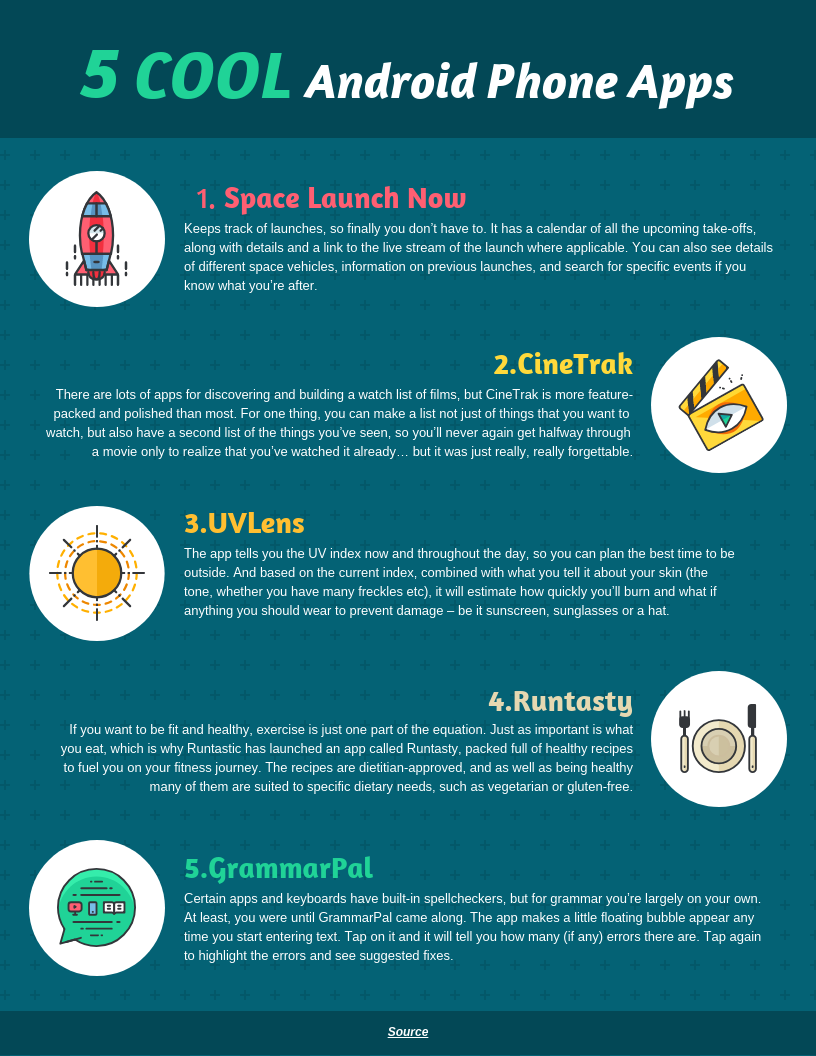 Popular Android Mobile Apps Infographic Template