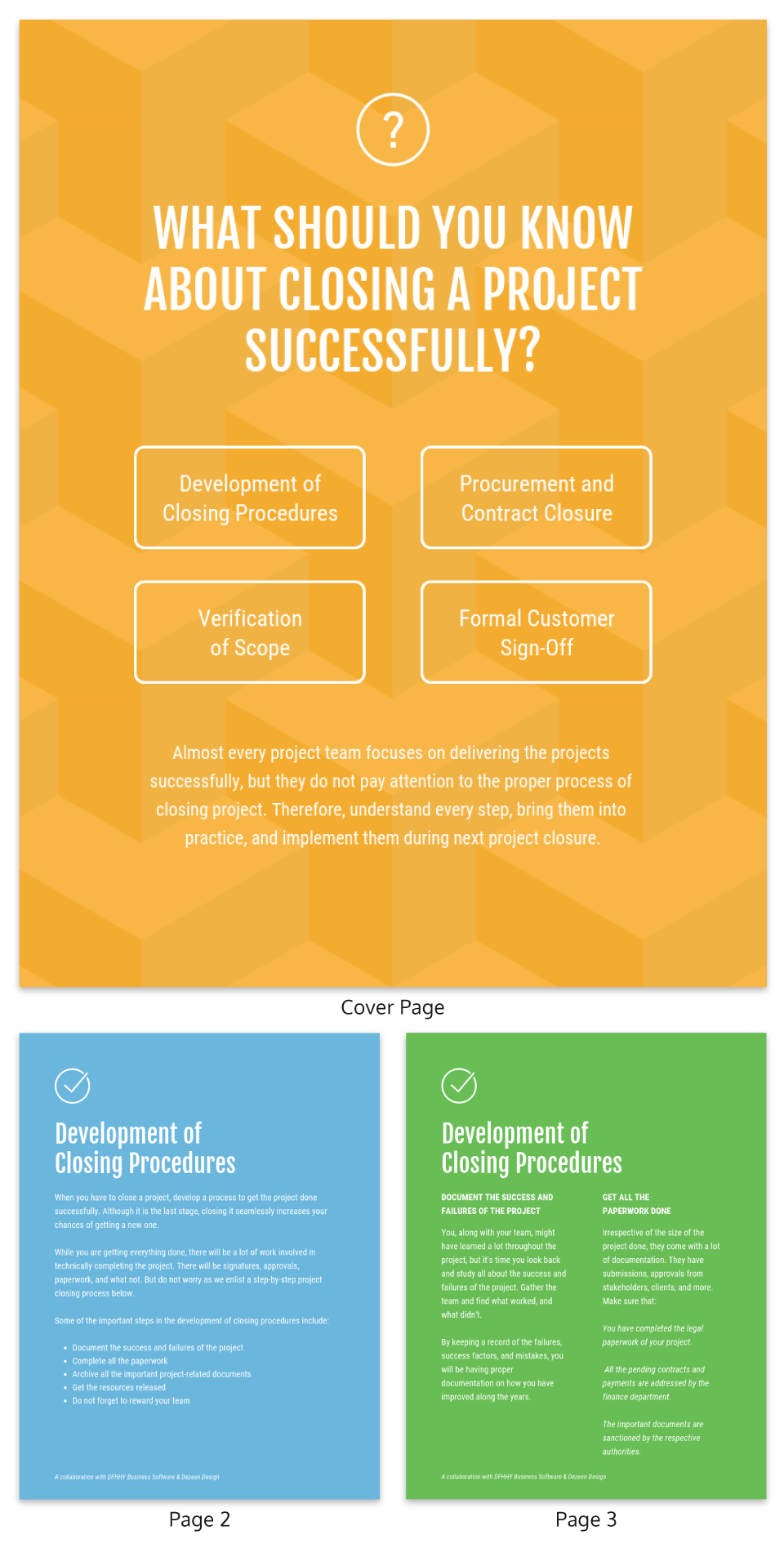 Simple Colorful Management eBook Template