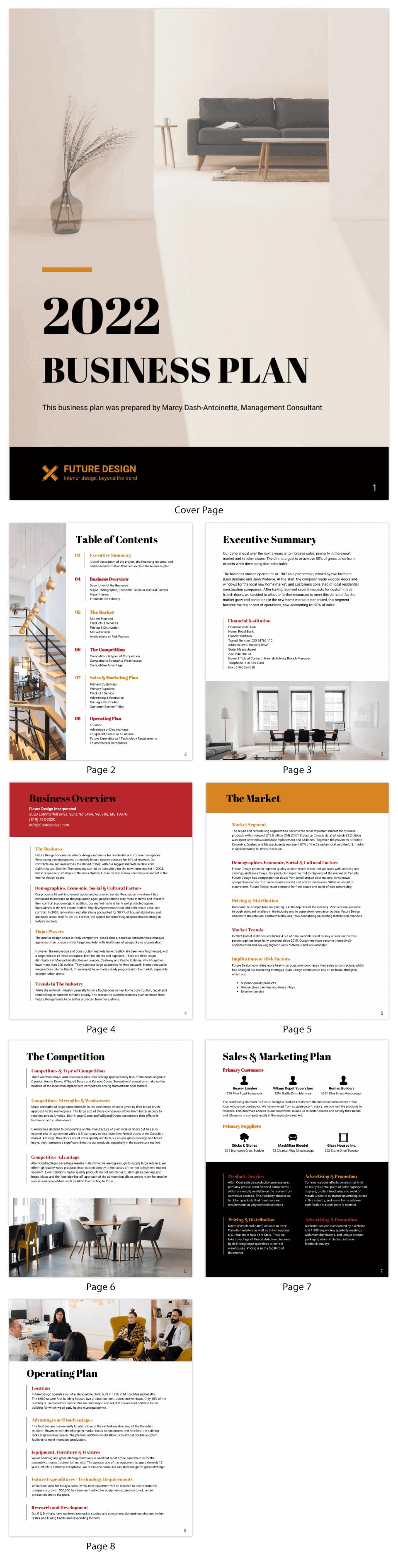 Design Consultant Business Plan Template