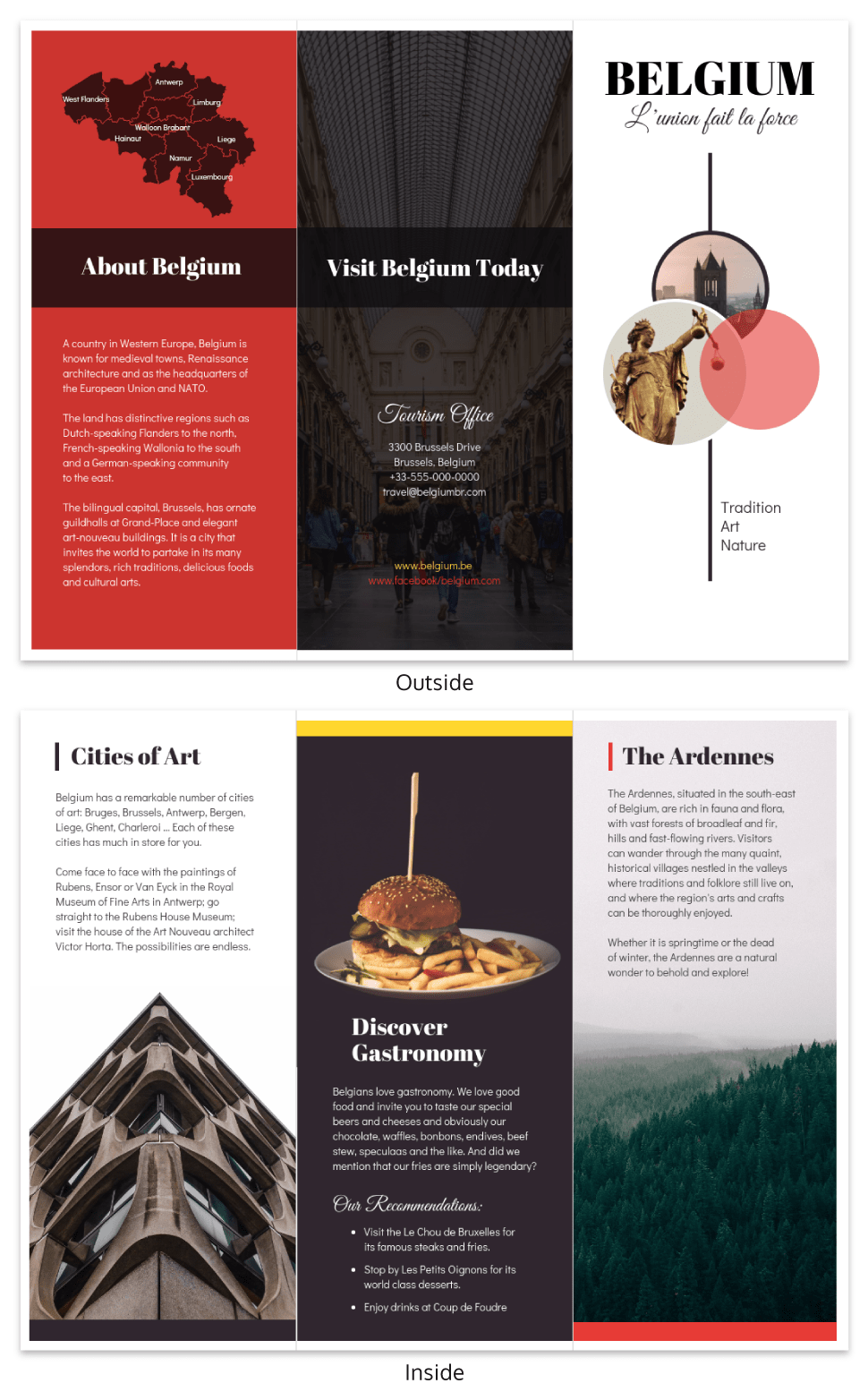 Vacation Travel Brochure Template Template - Venngage