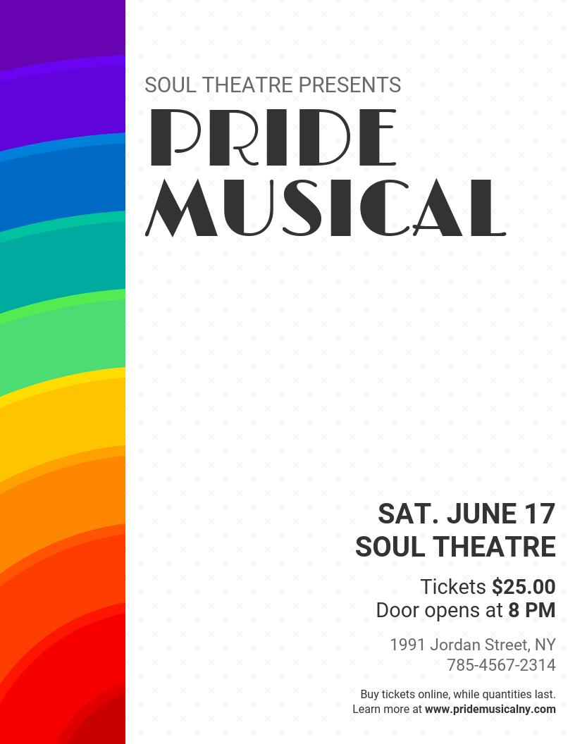 Pride Theatre Event Flyer Template