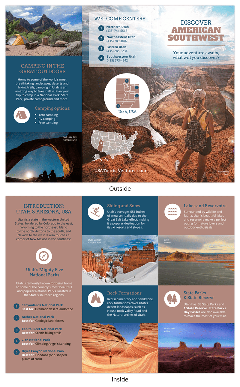 Utah Travel Brochure Template