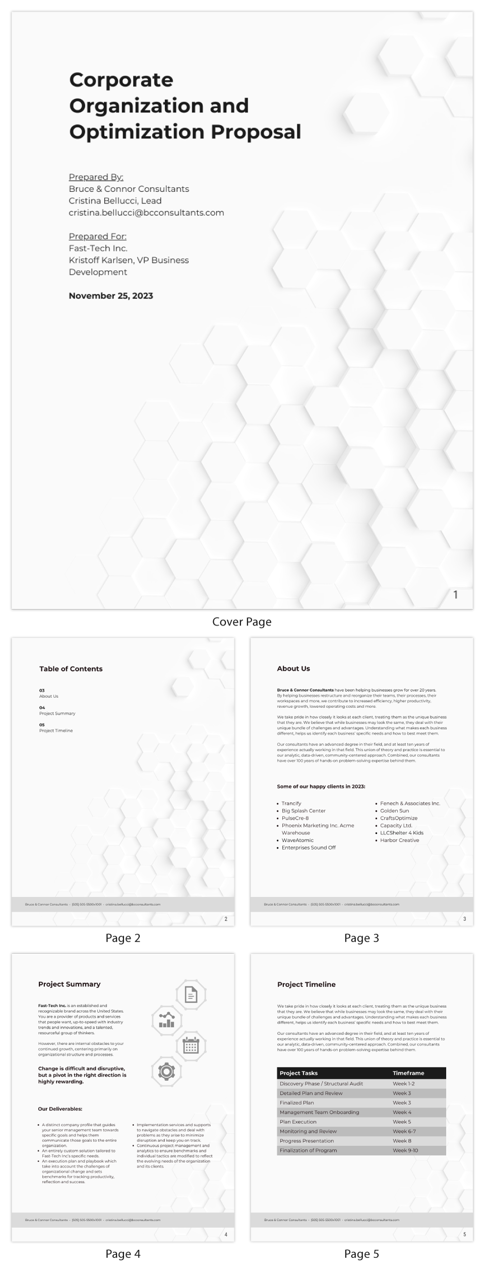 Simple Business Consulting Proposal Template