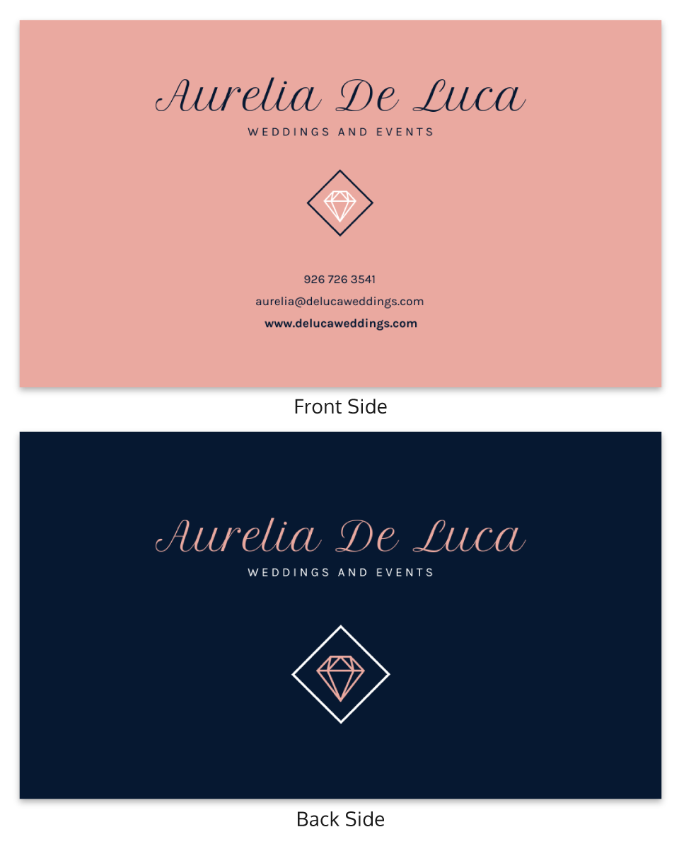 Wedding Event Planner Business Card Template
