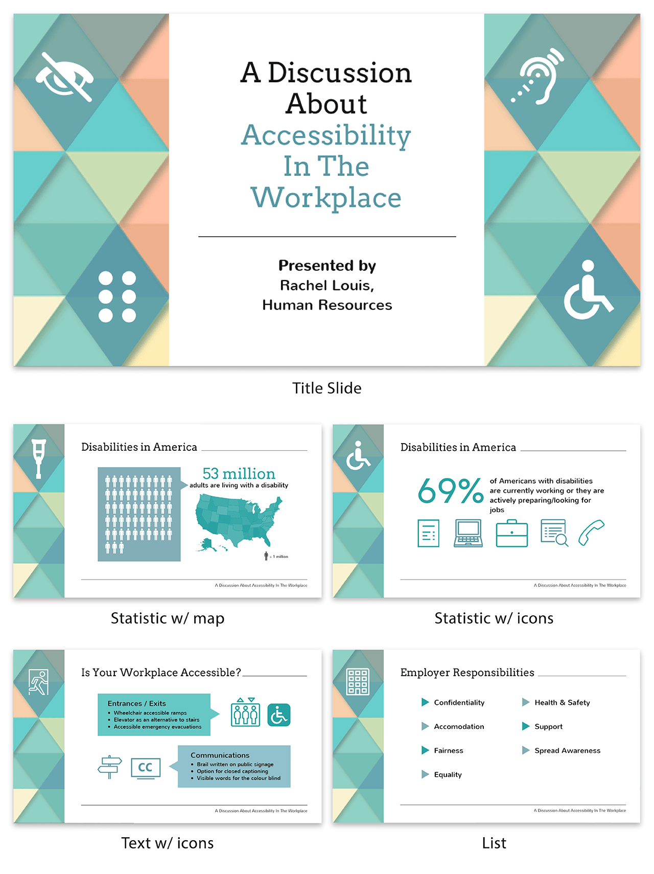 Workplace Accessibility Creative Presentation Template