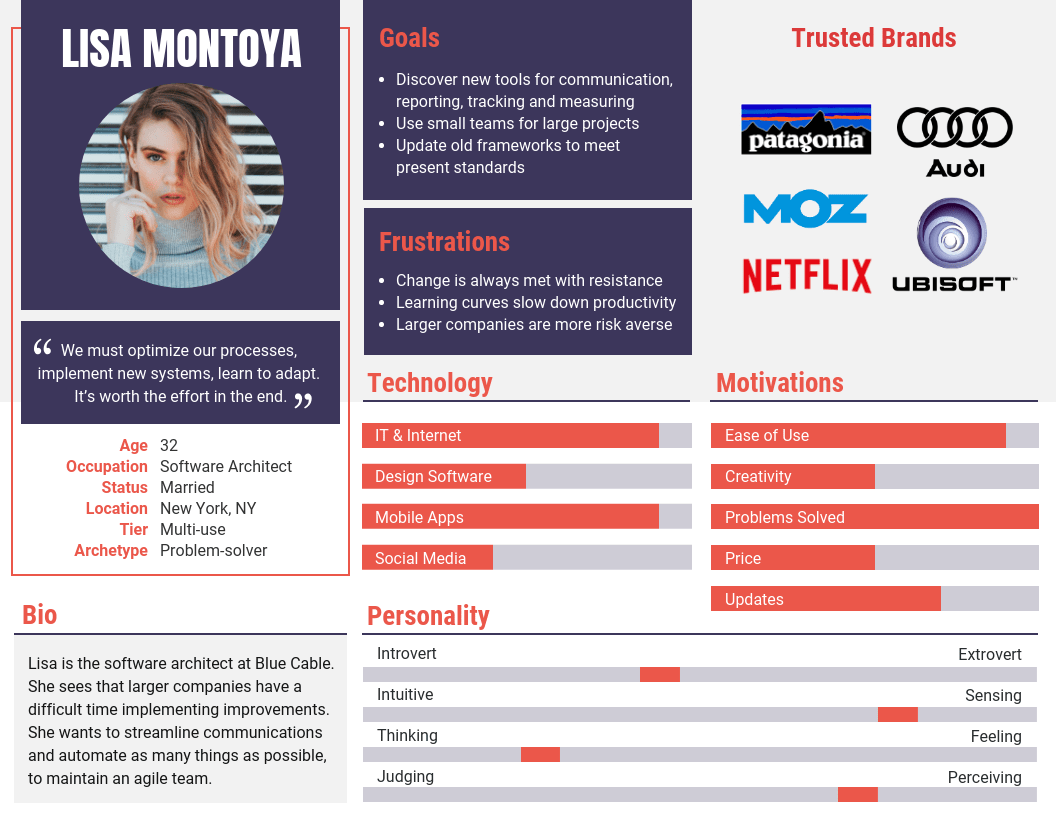 Colorful Persona Guide Report Template
