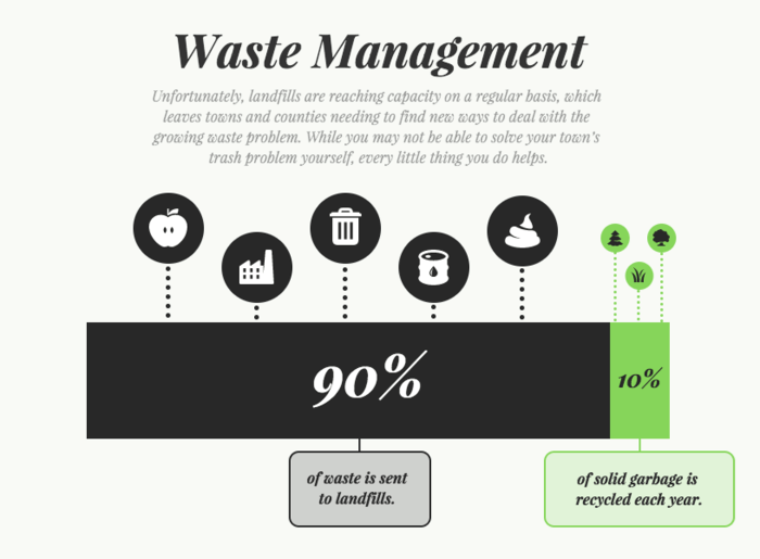 Waste Management Infographic Template