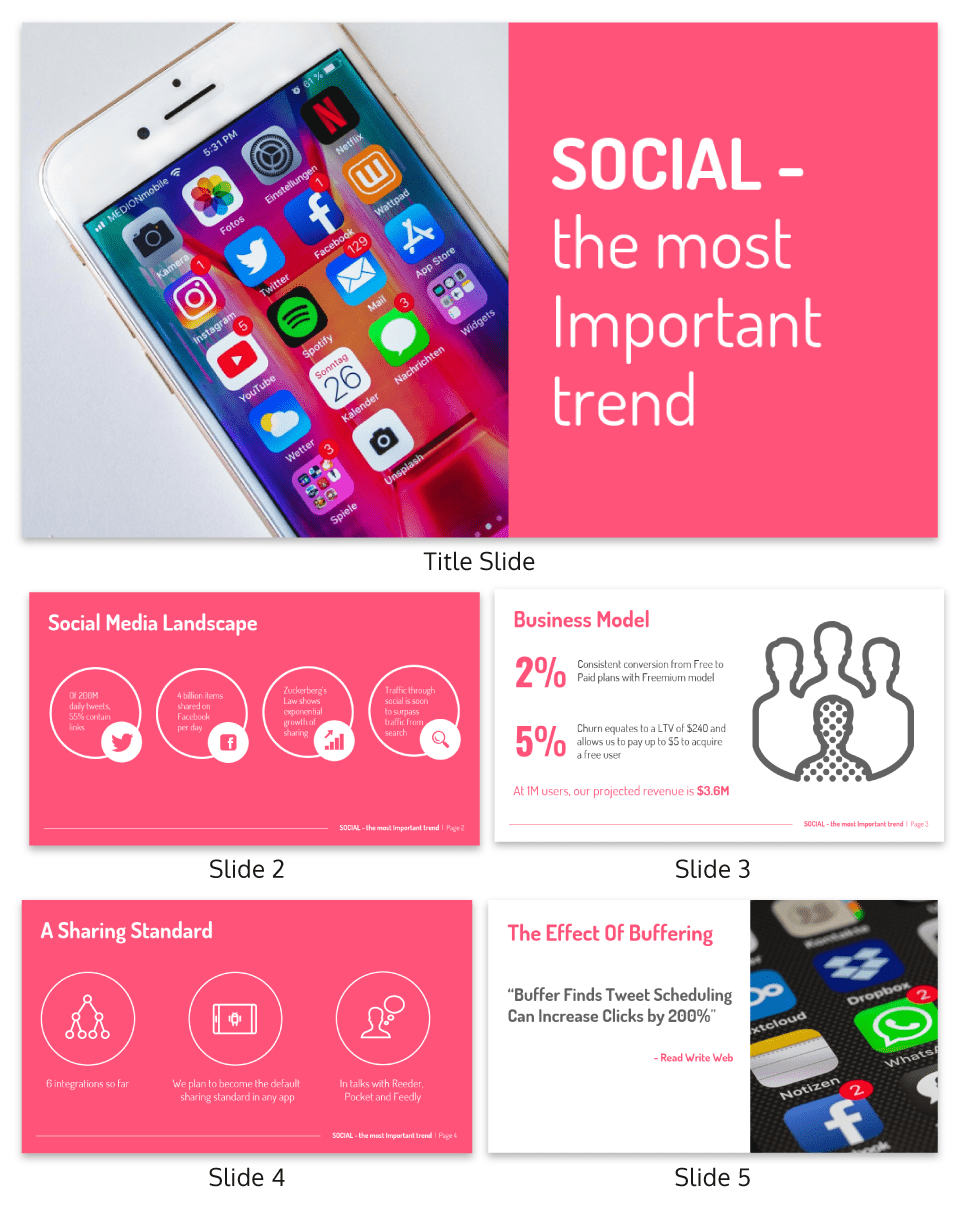 Social Media Pitch Deck Template