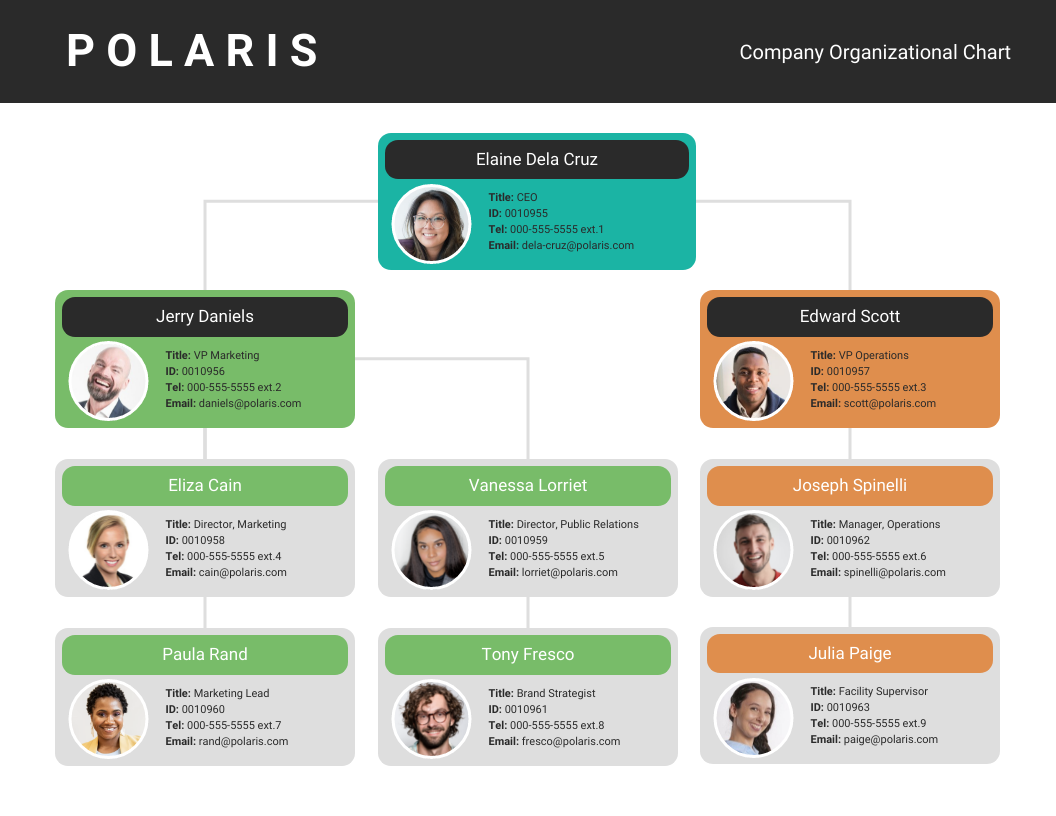 Company Organizational Flow Chart Template
