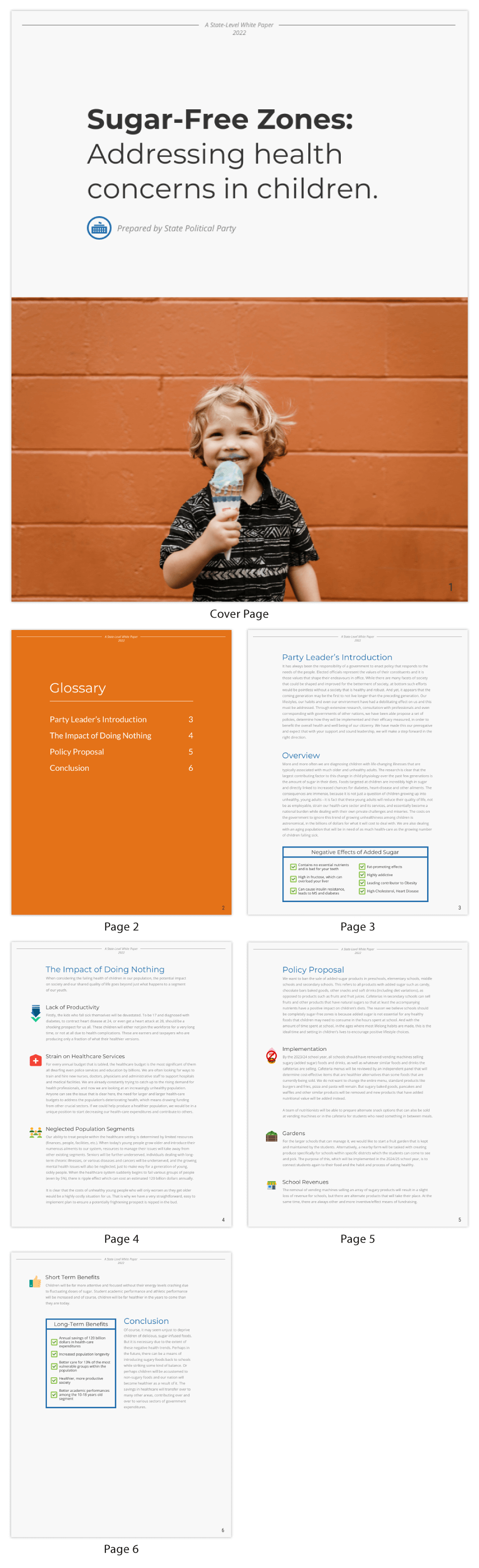 Health White Paper Template