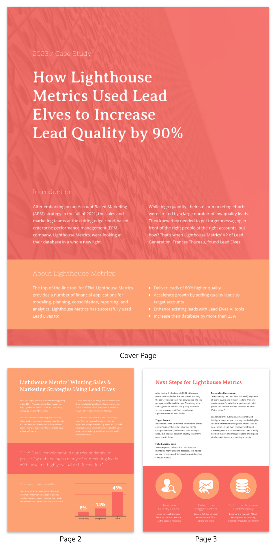 Red SAAS Business Case Study Template