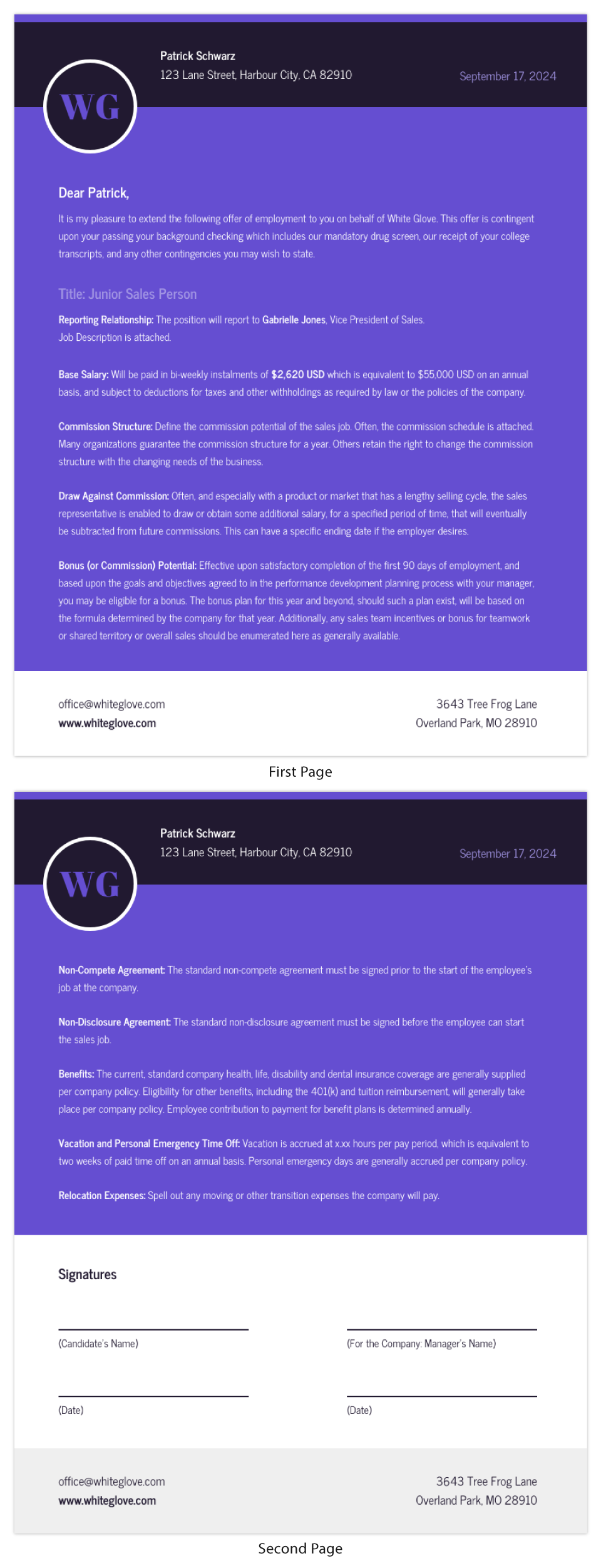 Simple Job Offer Letter Template from s3.amazonaws.com