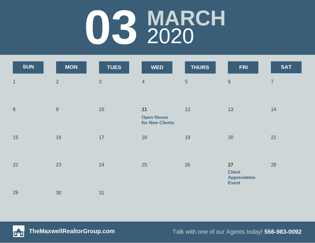 Promotional B2c Monthly Calendar Schedule Template
