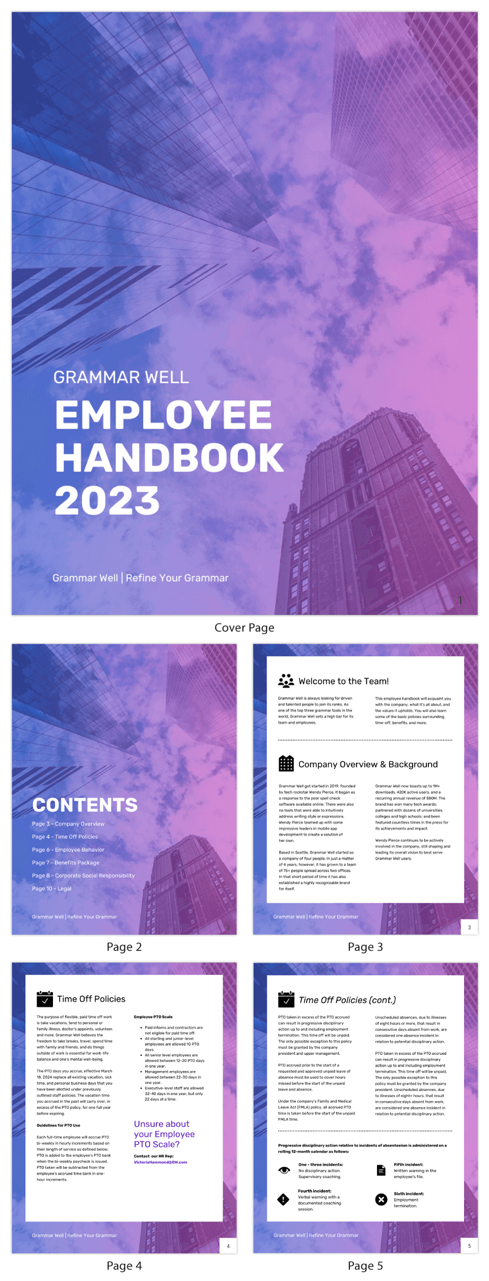 Gradient Corporate Employee Handbook Template