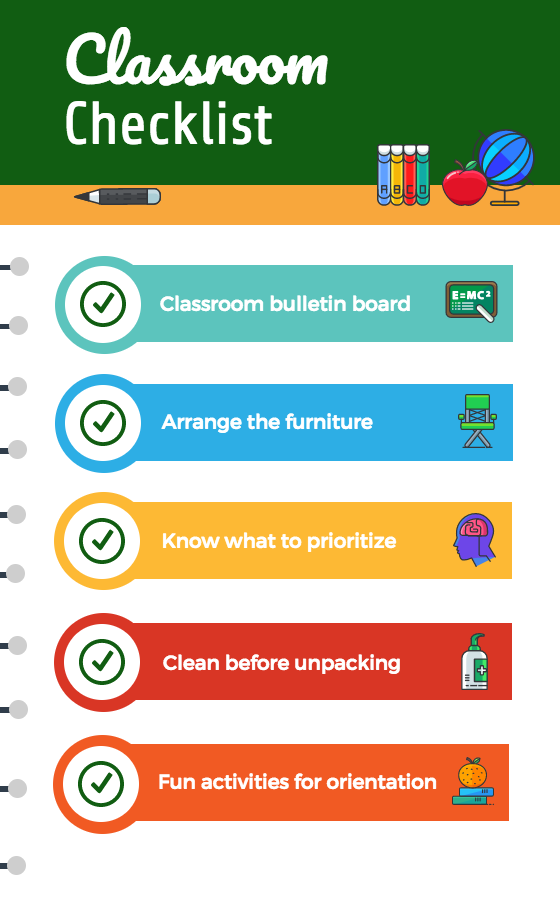 Classroom Checklist Infographic Template