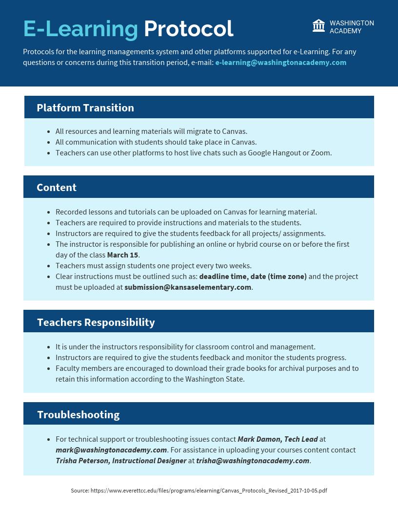 E-learning Protocol Template