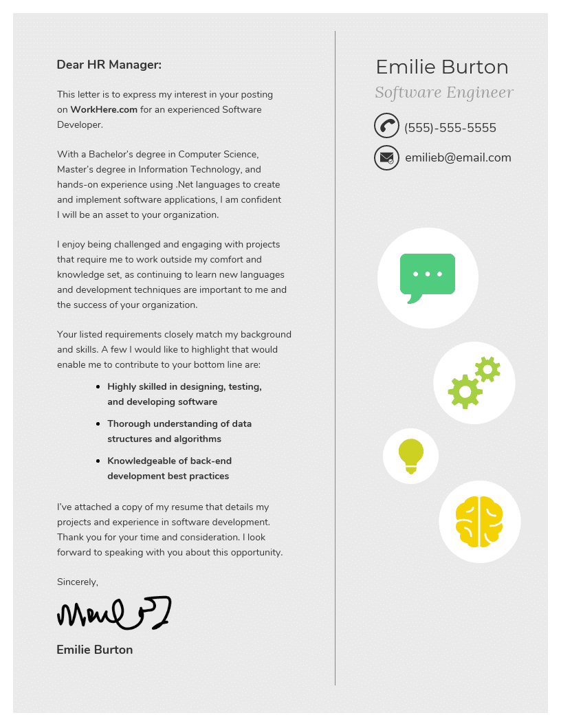 Character Cover Letter Template