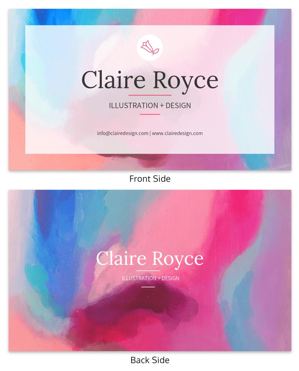 Impressionist Illustrator Business Card Template