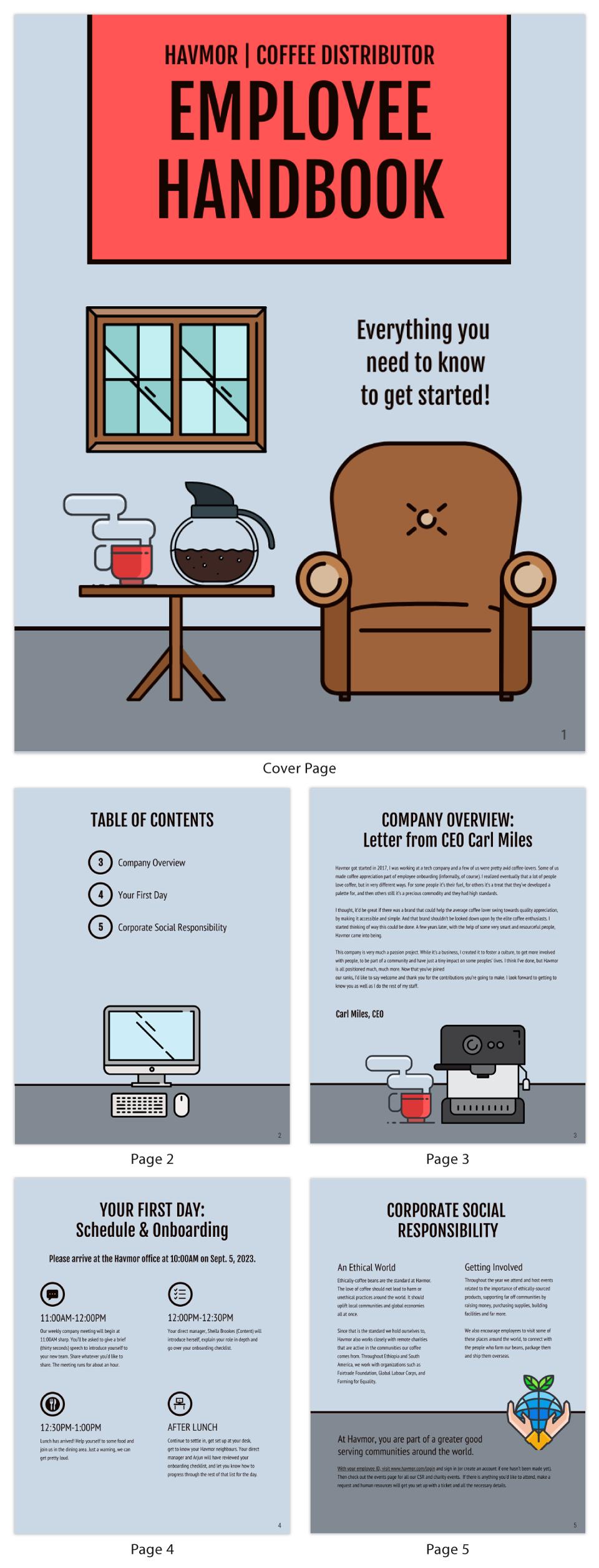 Illustrative Company Employee Handbook Template