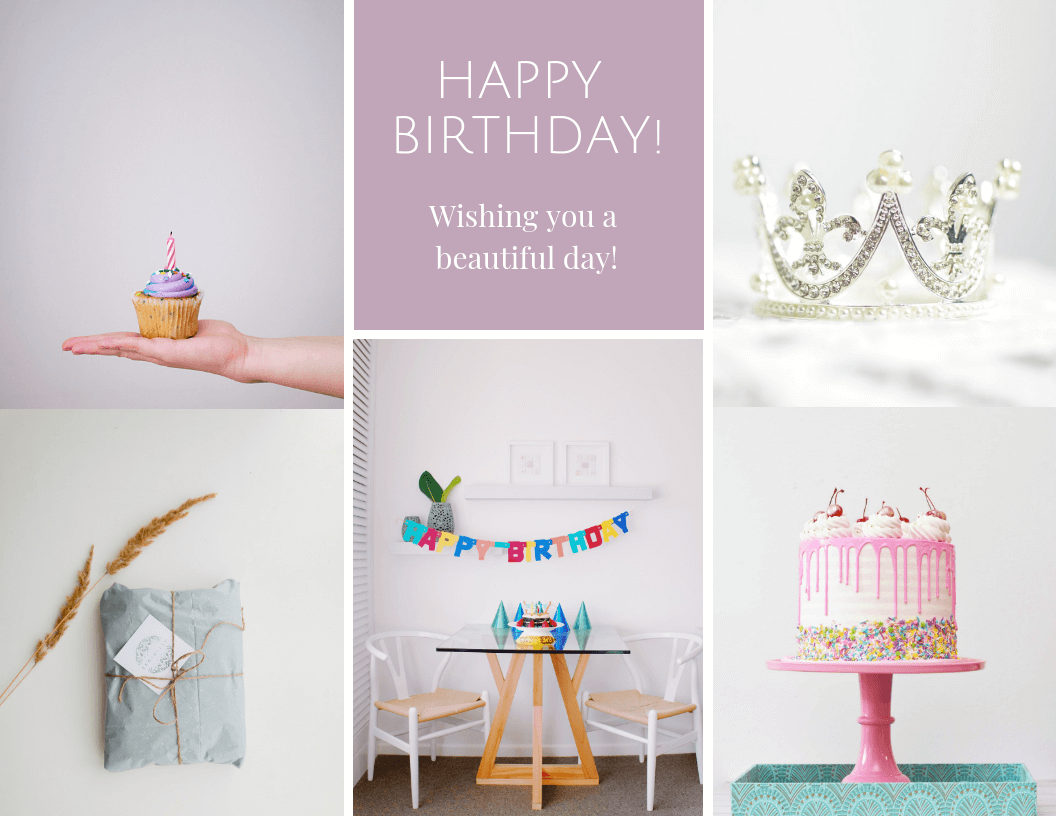 Happy Birthday Photo Collage Template Inside Birthday Card Collage Template