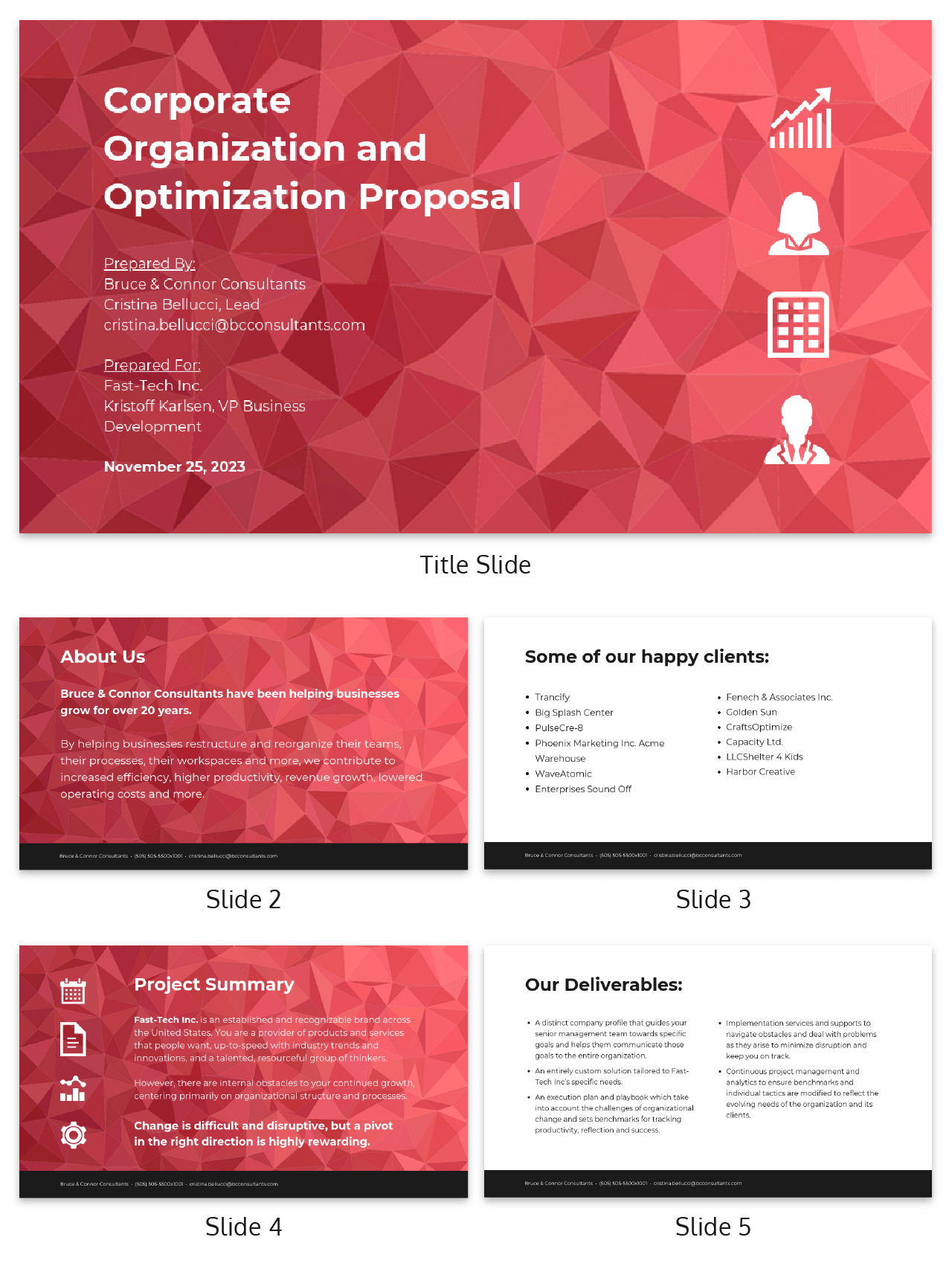 Abstract Business Consulting Presentation Template
