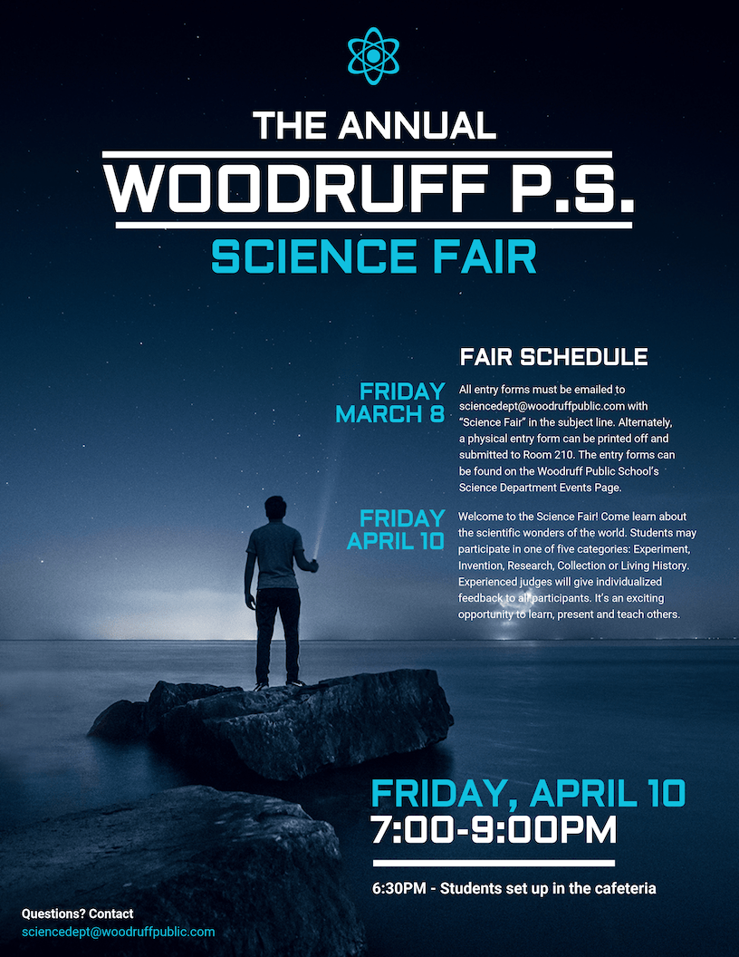 Blue Science Fair Event Poster Template