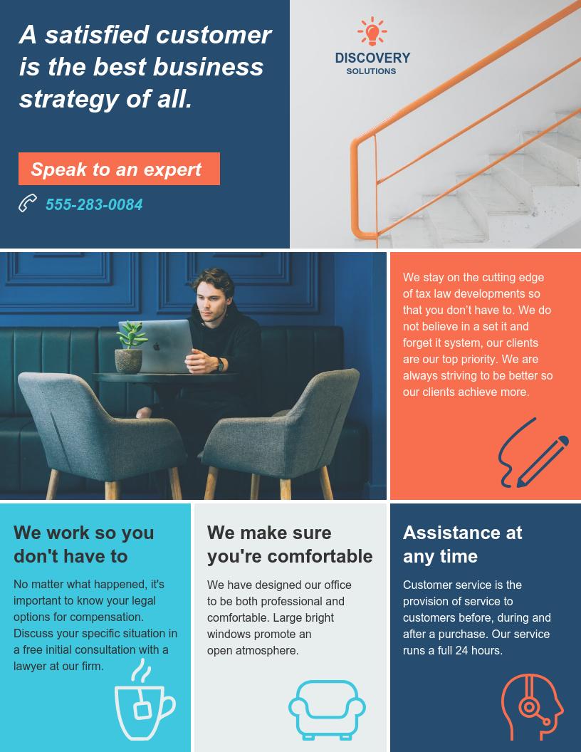 B2C Service Business Flyer Template