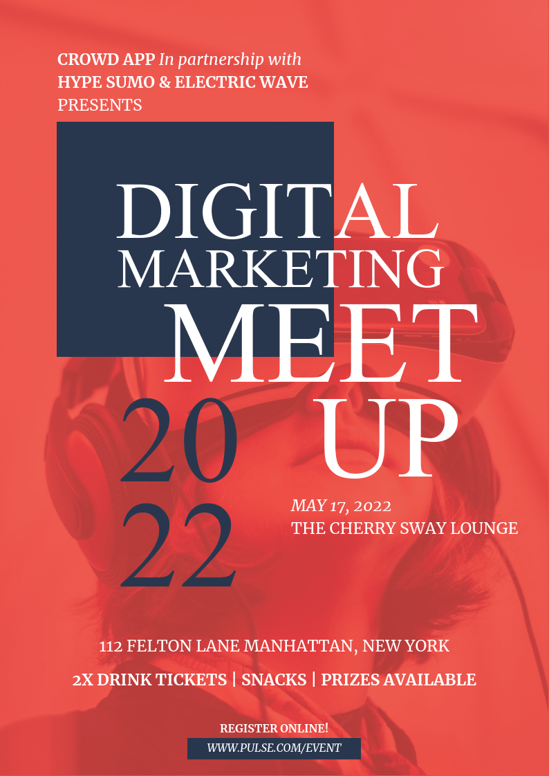 Digital Marketing Conference Event Poster Template