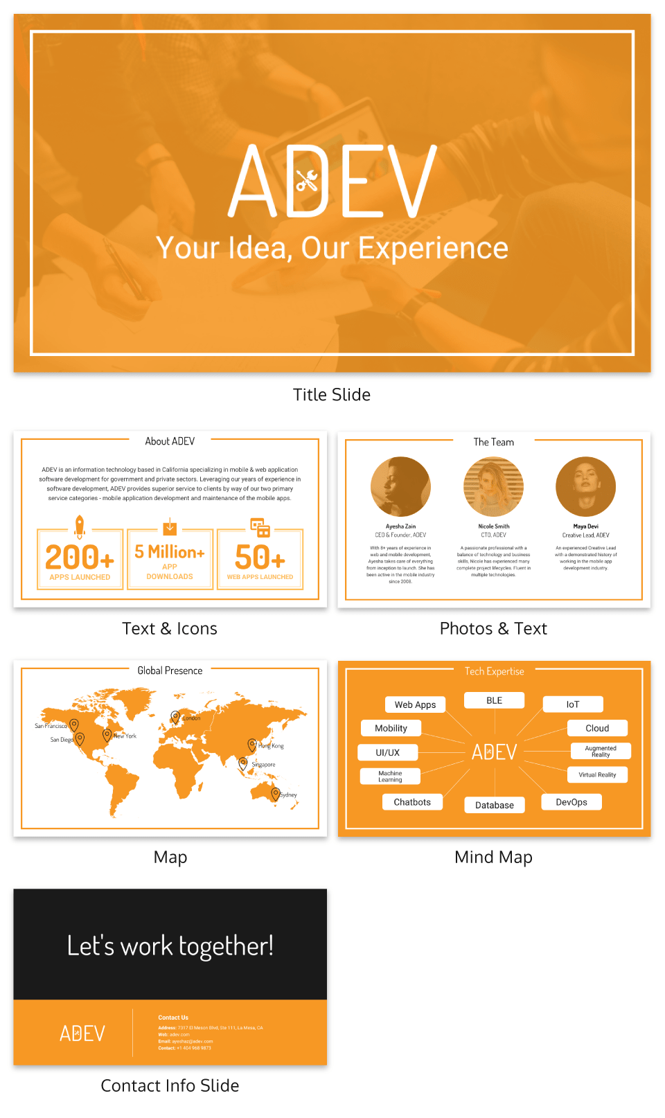 Orange Business Presentation Template