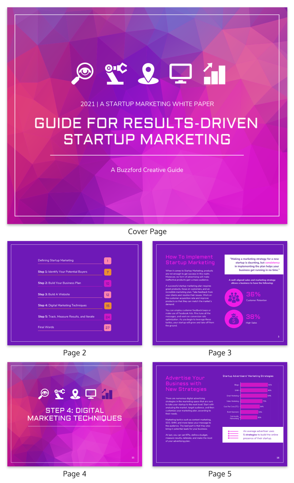 Violet Startup Marketing White Paper Template