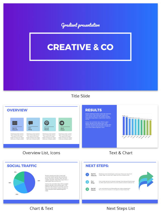 Gradient Creative Presentation Template