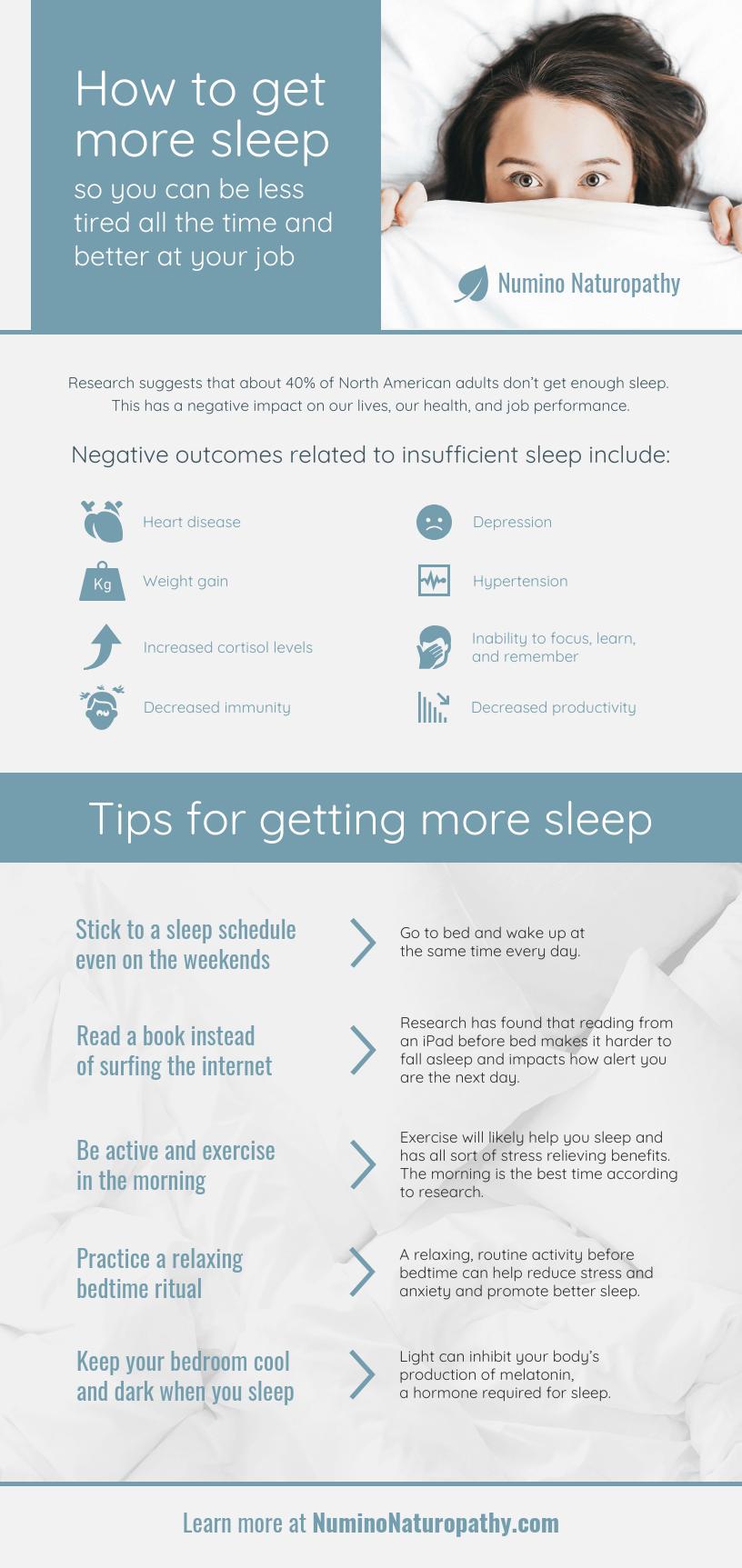 Healthy Sleep Habits Infographic Template