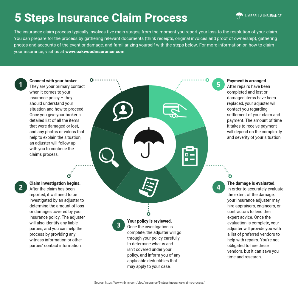 Insurance Claim Process Infographic Template